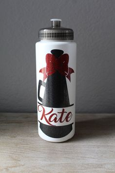 Customize and personalize this BPA Free Plastic Water Bottle Varsity Cheer, Football Cheer, Cheer Camp, Cheer Coaches, Cheerleading Gifts, Cheer Gifts, Cheer Dance, Cheer Coach Gifts, Cheerleader Gift
