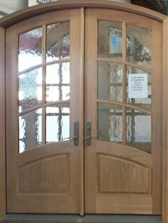 Wood Double Entry Door - Unfinished & Wood Entry Door with Two Sidelights - Unfinished   Wood Exterior ...