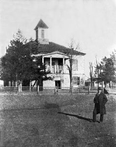 Looking Back Old Burke County Courthouse ca 1889. Picture Burke is a digital photograph preservation project of the NC Room of the Burke County Public Library.