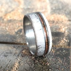 Hey, I found this really awesome Etsy listing at https://www.etsy.com/listing/208424768/mens-wedding-band-antler-wedding-band