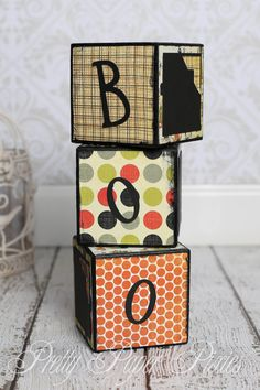 Pre-Made Boo Blocks - Memories - Decoration