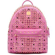 MCM Diamond Stark Backpack ($1,617) ❤ liked on Polyvore featuring bags, backpacks, pink bag, backpack bags, diamond bag, rucksack bags and mcm bags