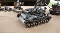 Big battle tank Welding Art Projects, Welding Crafts, Metal Projects, Big Battle, Battle Tank, Sculpture Art, Sculptures, Scrap Metal Art, Metal Toys