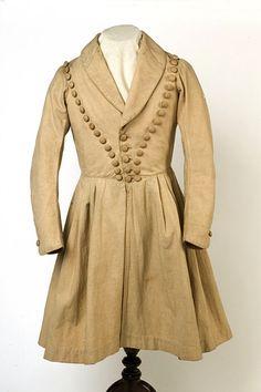 Ca. 1830s-1840s Boy's Nankeen Frock Coat via Ebay
