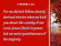 2 peter 1 16 we were eyewitnesses of his majesty powerpoint church sermon Slide03 http://www.slideteam.net/