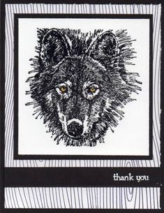 Wolf Set - can never go wrong with a black and white card!