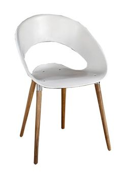 Silla de diseño ONE WOOD con patas de madera