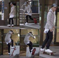 Justin skating in Sydney
