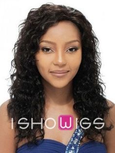 Sweet Layered Curly Human Hair Lace Front Wig