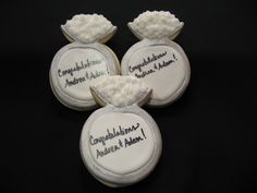 Engagement ring cookies -- how cute