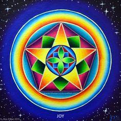 °JOY ~ Word Vibration Mandala by Rosalind Pape