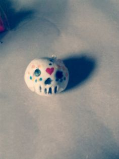 Polymer Clay Sugar Skull by CncBakedGoods on Etsy, $4.00