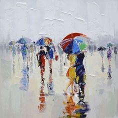 Peinture parapluie reflet