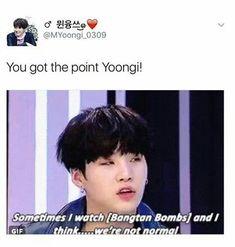 Period, if min YOONGI checks about what yoonmin does in fanfics he'd be fucked over. Nooooooooo yoonmin okay! Bts E Got7, Bts Suga, Bts Bangtan Boy, Bts Boys, Bts Taehyung, Bts Memes Hilarious, Bts Funny Videos, Bts Yoonmin, K Pop