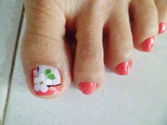Flores Nail Art, Nails, Beauty, Finger Nails, Feet Nails, Pedicures, Flowers, Ongles, Nail Arts