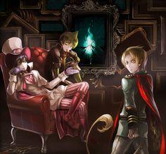 Mephisto, Amaimon y Lucifer // Ao no Exorcist - blue exorcist