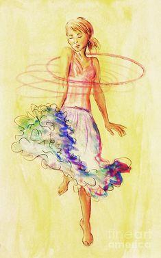 Hoop Dance Painting  - Hoop Dance Fine Art Print