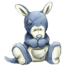 ●•‿✿⁀My Blue Nose Friends‿✿⁀•● No 19 –Mo the Kangaroo– Mo is the caring kangaroo who likes to play Mum; She'll keep a loving eye on you!