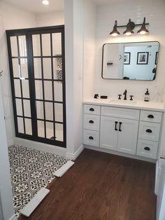 Bathroom Renos, Small Bathroom, Bathroom Ideas, Master Bath Remodel, Shower Doors, Bathroom Interior Design, Bathroom Inspiration, Home Remodeling, New Homes