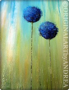 Acrílico pintura paisaje abstracto contemporáneo ORIGINAL Arte