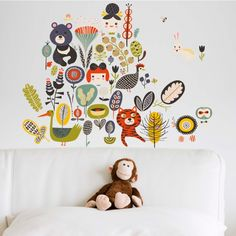 Amazing collection of wall decals designed by Helen Dardik for Chispum. Big Girl Rooms, Boy Room, Baby Decor, Kids Decor, Cool Kids Rooms, Room Planning, Toddler Fun, Kid Spaces, Baby Design