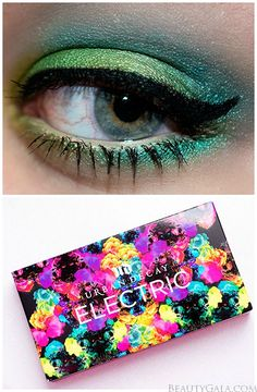 Urban Decay Electric Palette Swatches/Look @Urban Decay