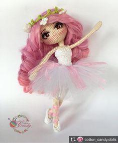 Repost from @cotton_candy.dolls ~*~*~*~ #doll #amigurumi #handmade #балерина #кукла #амигуруми #hm_rukodelie #ручнаяработа Подписывайте свои работы тегом #knitcreativ - лучшие попадут к нам в ленту