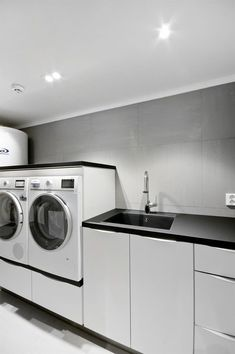 relaxing laundry room layout ideas page 25 Basement Laundry, Laundry Room Bathroom, Farmhouse Laundry Room, Laundry Room Storage, Master Bathroom, Bathroom Interior, Interior Design Living Room, Living Room Designs, Bathroom Remodeling