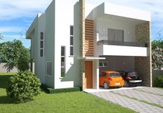 Este sobrado contemporâneo possui ambientes amplos e integrados, garagem para dois carros e uma agradável área de lazer com varanda…