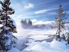 "Photo from album ""Природа. Зима PNG"" on Yandex. Winter Szenen, Winter Cabin, Winter Season, Gif Noel, Beautiful Winter Scenes, Holiday Wallpaper, Snow Scenes, Winter Photos, Album"