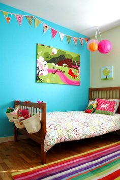 Lily & Ruby's Rainbow Bright Bedroom