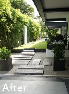 Experts in Thai Landscaping and Garden Design, Tropical Gardens, Bangkok Landscape Design and Garden Construction in Thailand. Modern Landscape Design, Modern Landscaping, Contemporary Landscape, Backyard Landscaping, Front Garden Landscape, Landscape Plans, Small Gardens, Outdoor Gardens, House Cladding
