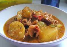 La Cocina con Cariño: CALAMARES GUISADOS CON PATATAS