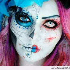Scary halloween 2013 makeup