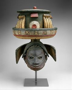 Helmet Mask (Gelede) Date: 20th century Geography: Nigeria Culture: Yoruba peoples