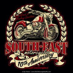 Tenth Anniversary at South East motorcycles #Harley #Davidson #motorcycle #tshirt #artwork