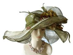 """Oh my! """"Green With Envy"""" KY Derby or garden party hat by Jackie Naples. (IfTheHatFitsByJackie on etsy)"""