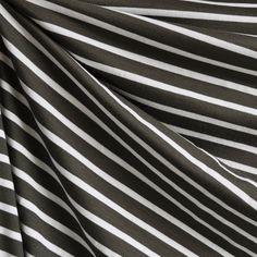 Jersey Knit Pencil Stripe Olive/Vanilla   Style Maker Fabrics