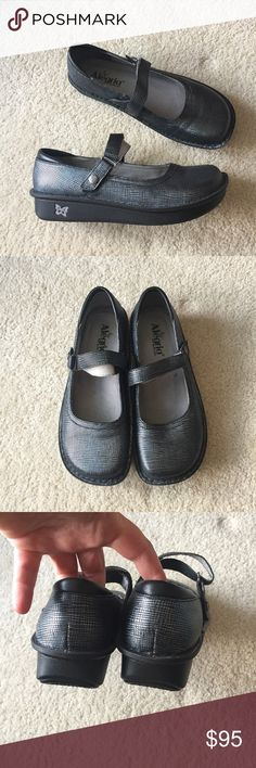 Alegria Gray/Silver Shoes Alegria Paloma Gray/Silver shoes in excellent condition. Maybe worn twice. Size 40 Alegria Shoes Mules & Clogs