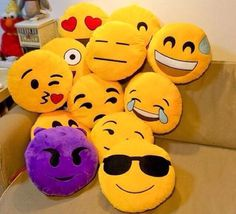 OMG! Are those... emoji pillows?! So perfect as a gift or for yourself! Collect all of them to be the envy of your friends :) Shipping may take up to 2-3 weeks.