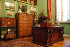 Casa Museo Mario Praz . Roma. Este lugar sin tiempo llena de pequeños tesoros principios del siglo XIX-neoclásico y romántico: muebles, bronces, pinturas, dibujos, miniaturas, porcelanas, esculturas .