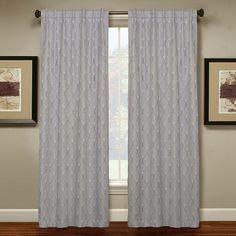 Spencer Home Decor Meg Curtain, Grey