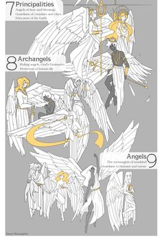 THE NINE CHOIRS OF HEAVEN. An info-graphic for my editorial class and god am I thankful it's done. Way too much went into this than what I had time for, but hey… I actually kind of like it? Now excuse...