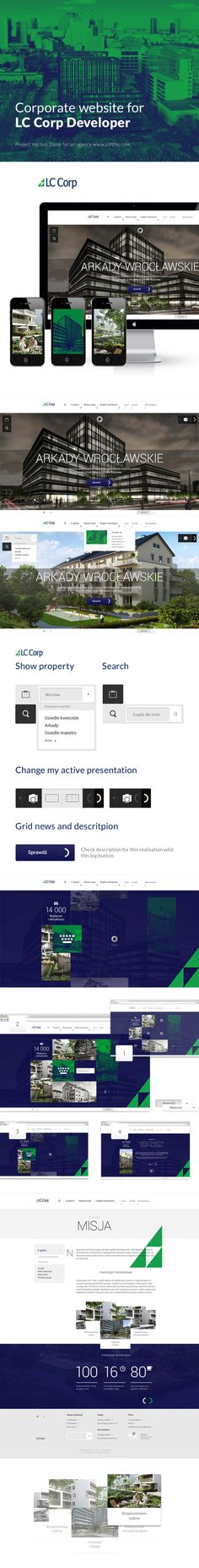 Developer, corporate website by Piotr Kazmierczak, via Behance