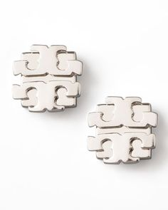 Silver Logo Earrings, Large by Tory Burch at Neiman Marcus.  I just saw these on a lady in Chicago and the picture does not do justice to them.  They will be perfect for weekend dress down or work week staple.