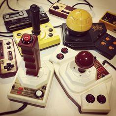 Famicom's Joysticks, Pads & a Joyball
