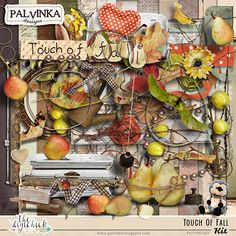 Touch of Fall Kit  and Alpha by Palvinka Designs   Digital Scrapbook @ at The Digichick
