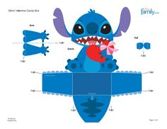 Las Recortables de Veva e Isabel: Recortables Disney. The Cut-Outs of Veva and Isabel: Cut-Outs Disney. Disney Stitch, Lilo And Stich, Disney Diy, Disney Crafts, Heros Disney, E Craft, Valentine Day Boxes, Camping Crafts, Diy Arts And Crafts
