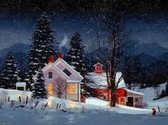 Cold winters night