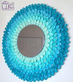 ombre spoon flower mirror